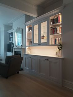 Alcove Cabinets, Kitchen Cabinets, Alcoves, Double Vanity, Shelving, Living Room, Bathroom, Home Decor, Shelves