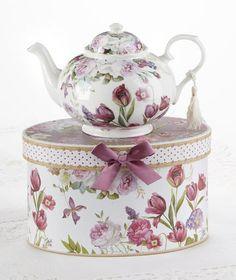 Tulip Porcelain Teapot in Gift Box
