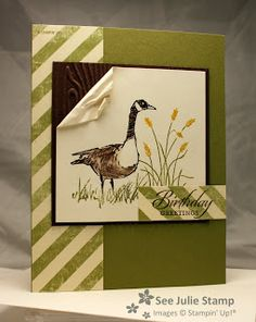 See Julie Stamp: Julie Wadlinger is an Independent Demonstrator for Stampin' Up! She creates hand-made and digital projects. Masculine Birthday Cards, Birthday Cards For Men, Masculine Cards, Kirigami, Stamping Up Cards, Bird Cards, Fathers Day Cards, Scrapbook Cards, Scrapbooking