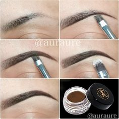 "One thing for sure I'll bring when I go to the beach is my @anastasiabeverlyhills Dipbrow Pomade. Here's a step by step using it in color ""Dark Brown"". I will go to Maldives this day to do my Client's makeup. So, this beauty is a MUST. ☉ #anastasiabrows #anastasiabeverlyhills - @auraure- #webstagram"
