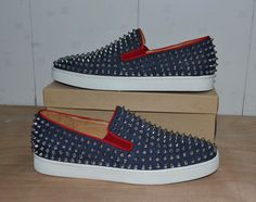 2013 Christian Louboutin Roller boat spikes sneakers   Clothing ...