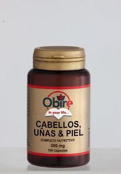 Cabellos, uñas y piel 100 cápsulas de 300 mg Obire imágenes  $6.10