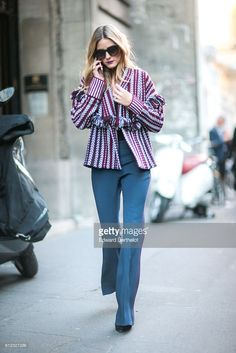 Olivia Palermo is seen outside of the Sonia Rykiel show during Paris Fashion Week Spring Summer 2017, on October 3, 2016 in Paris, France.