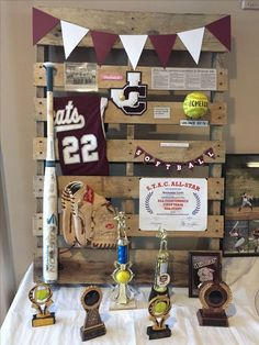 this is a great grad party idea for featuring sport medals!