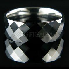 Aliança de Compromisso Diamond em Tungstênio Prata