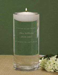 Perfect ... It can sit rt by us and we can have it engraved to honor the ones who have passed and couldn't be there