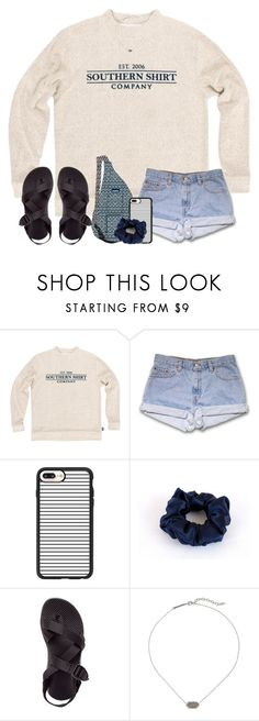 """live a little.."" by arieannahicks on Polyvore featuring Kavu, Casetify, Chaco and Kendra Scott"