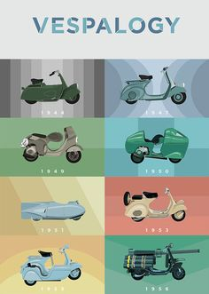 CJWHO ™ (Watch 60 Years of Chic Vespas Go By Now, Paris-...)