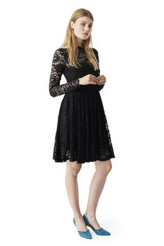 Flynn Lace Dress, Black