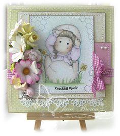 Hello Tilda stamp Daffodil Joy Nitwit Collections http://thecraftbucket.blogspot.co.uk/
