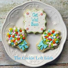 Get Well Soon w/ Flower Bouquets by The Cookie Loft Girls