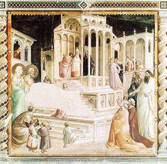 Таддео Гадди. Введение Богоматери во храм. Фреска капеллы Барончелли