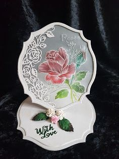 Easel Card made using Crafter's Companion Die'sire Create a Card Die Rose Easel Designed by Nick Roberts Fancy Fold Cards, Folded Cards, Pop Up, Pop Out Cards, Card Making Supplies, Making Cards, Crafters Companion Cards, Spellbinders Cards, Shaped Cards