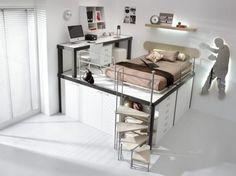 teen rooms loft neutral