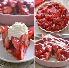 The BEST Homemade Strawberry Pie!!! <3 <3 <3Recipe: http://www.lemontreedwelling.com/2014/02/strawberry-pie.html Posted by Lemon Tree Dwelling on Thursday, 21 January 2016 Photo Source     A really delicious strawberry pie to make that looks so yummy I am …