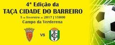 Taça Cidade do Barreiro: Final entre FC Barreirense e GD Fabril no dia 5 de Fevereiro