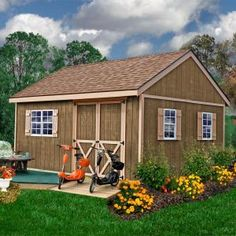 Best Barns New Castle 16 ft. x 12 ft. Wood Storage Shed Kit with Floor Including 4 x 4 Runners & Best Barns Fairview 12 ft. x 12 ft. Wood Storage Shed Kit | Wood ...