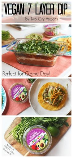 Vegan 7 Layer Dip with Good Foods Guacamole. Perfect for game day, tailgates, and parties! Football fun or family time is the way to go! Find out where to buy it: https://ooh.li/a8149ef