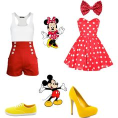 Best Friend Outfits with Shorts | fashion how to wear a crop top mickey and minnie best friend outfit ...