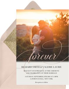 Forever Script by Claudia Owen | Greenvelope.com
