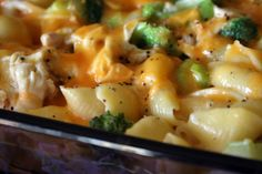 Chicken alfredo broccoli and cheese pasta bake. That's quite a mouthful, but sounds delicious.