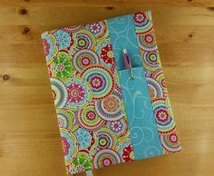 Kaleidoscope Flower with Blue Swirl by AHappyHaberdashery on Etsy