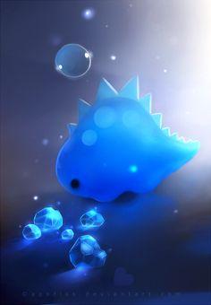 crystal dino by Apofiss.deviantart.com on @deviantART