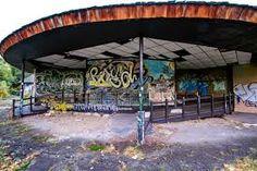 Pavillion at the abandoned Belle Isle Zoo, Detroit, MI