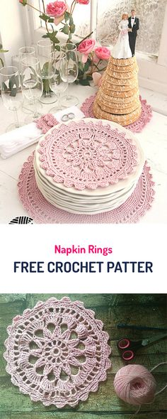 Napkin Rings Free Crochet Pattern #crochet #yarn #diy #homedecor #style