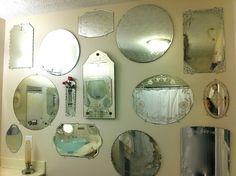 Vintage mirror wall. karibeth_com, via Flickr
