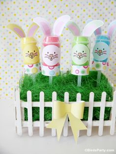 Easy Easter Bunny Push-up Pops