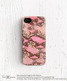 Leather print iPhone 5c case Plastic snake leather by TonCase, $23.99
