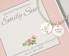 Brautschmuck - 925 Silber Armkette ♥ Schmuck Gravur ♥ Blumenkind - ein Designerstück von Bloomgart bei DaWanda