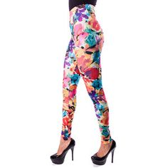 Yellow Floral Leggings now featured on Fab. #Fashion #Retro