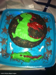someone baked Piff a cake! Dragon, Magic, Baking, Cake, Desserts, Food, Tailgate Desserts, Deserts, Bakken