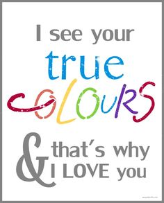 Autism Awareness - I see your true colors & that's why I love you. ❤ About Autism | A Pop of Pretty: Canadian Decorating Blog