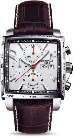 Certina Watch DS Podium Square Chrono Automatic A Amazing Watches, Beautiful Watches, Cool Watches, Wrist Watches, Stylish Watches, Luxury Watches For Men, Skeleton Watches, Swiss Army Watches, Dream Watches
