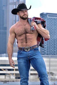 Scruffy Men, Hairy Men, Bearded Men, Hot Country Boys, Cowboys Men, Hunks Men, Beefy Men, Hommes Sexy, Muscular Men