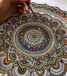 mymodernmet Artist Spends Hours on Ornate Mandalas Gilded with Gold Leaf