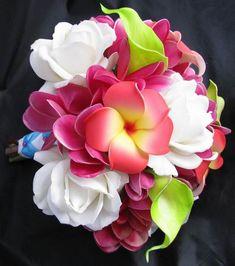 Tropical multicolor flower hand bouquet