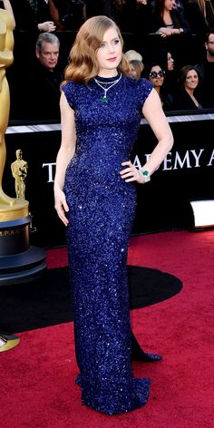 Amy Adams #blue #sequins #redcarpet Inspiration
