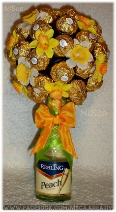 Rocher-Frühlingsbäumchen Ferrero, Peach, Photos, Birthday, Craft, Prunus, Peaches