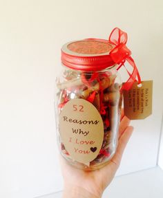 52 Reasons Why I Love You Gift in a Jar by TheBumbleComb on Etsy