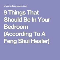 9 Things That Should Be In Your Bedroom (According To A Feng Shui Healer) You are in the right place about feng shui casa Here we offer you the most beautiful pictures about the feng shui inredning yo Feng Shui Bedroom Tips, Feng Shui Bathroom, Feng Shui Master, Feng Shui Rules, Feng Shui Art, Feng Shui Tips, Modern Living, Mid-century Modern, Modern Design
