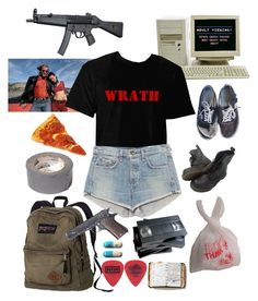 """Dylan Klebold's girl"" by ghostlygabs ❤ liked on Polyvore featuring art"
