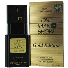 ONE MAN SHOW GOLD by Jacques Bogart for MEN: EDT SPRAY 3.3 OZ by ONE MAN SHOW GOLD. $20.19. Design House: Jacques Bogart. ONE MAN SHOW GOLD by Jacques Bogart for MEN EDT SPRAY 3.3 OZ Launched by the design house of Jacques Bogart in 2011