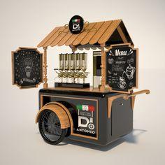 Food Stall Design, Food Cart Design, Food Truck Design, Kiosk Design, Cafe Design, Food Cart Business, Coffee Food Truck, Mobile Food Cart, Bike Food