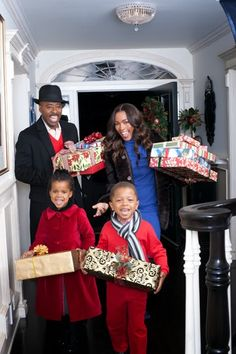 Angela Bassett and Courtney Vance & their twins
