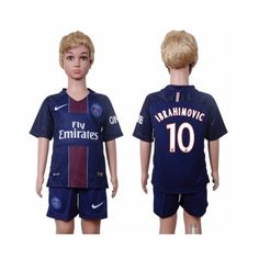 PSG Trøje Børn 16-17 Zlatan #Ibrahimovic 10 Hjemmebanesæt Kort ærmer.199,62KR.shirtshopservice@gmail.com