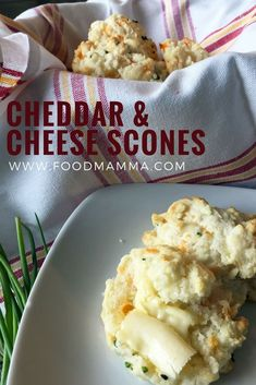 Mother's Day is a week away and what better way to celebrate than with brunch. Scones are always popular for breakfast or brunch but not every mother has a sweet tooth. These Cheddar and Chive Cheese Scones, Cheddar Cheese, Onion Leeks, Onions, Snack Recipes, Snacks, Scone Recipes, Drop Scones, Christmas Entertaining